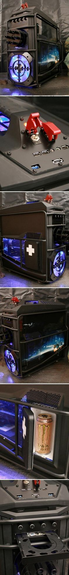 Epic Gaming Computer with a spot for your Java Monster, unleash the beast indeed
