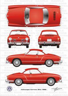www.martworkshop.com var albums Blueprints Car%20blueprints VW Volkswagen%20Karmann%20Ghia%201966.jpg