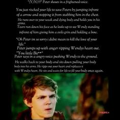 """Peter+Pan+Imagine//+okay+so+I+forgot+to+add+in+that+Wendy+was+slowly+dying+on+the+floor+due+to+the+loss+of+her+heart-lol I like how in this imagine he's like """"you little bitch"""" ( I totally read it in his voice while reading it in my head)and immediately rips her heart out and just shoves into your body"""