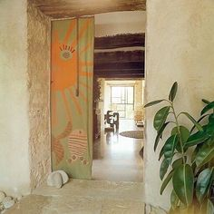 "blueberrymodern: ""Home of Robert Morel and Odette Ducarre - Jas du Revest-Saint-Martin - le Strict Maximum "" Interior Architecture, Interior And Exterior, Modern Interior, Pop And Scott, Design Apartment, Ideas Para Organizar, Saint Martin, Front Entrances, Deco Design"