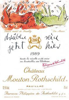 Etiquette Mouton Rothschild 1989  Georges BASELITZ
