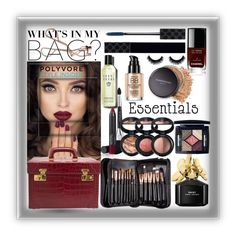 """Makeup Bag Staples"" by easy-dressing ❤ liked on Polyvore featuring beauty, Marc Jacobs, Charlotte Tilbury, Chanel, Gucci, Bare Escentuals, Bobbi Brown Cosmetics, Laura Geller, contestentry and PVStyleInsiderContest"