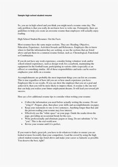 University Student 4 Resume Examples Pinterest Sample Resume