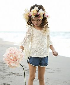 Another great find on #zulily! Cream Paisley Top & Shorts - Toddler & Girls by Mia Belle Baby #zulilyfinds