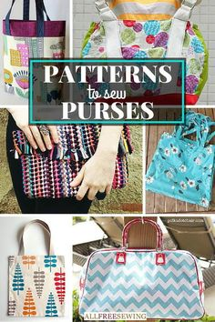 I love using sewing patterns to sew purses! I can match my fabric to my outfits. These easy DIY bag patterns are so cute!