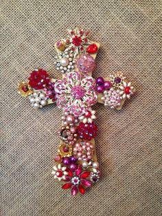 Vintage jewelry cross by ginjoh on Etsy