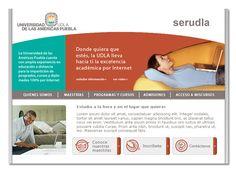 Diseño de sitio web para educación a distancia UDLA