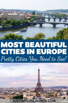 These are the most beautiful cities in Europe that you must see! Add all of these pretty European cities to your travel bucket list. Most beautiful cities in Europe | Most beautiful cities Europe | Beautiful European cities | Europe photography beautiful places | Pretty cities in Europe | Pretty European cities | Best cities in Europe to visit | Places to visit in Europe | Places to see in Europe | Where to travel in Europe | Europe cities bucket list Best Cities In Europe, Europe Places, Europe Europe, Central Europe, Europe Travel Guide, Europe Destinations, Travel Info, Usa Travel, Budget Travel