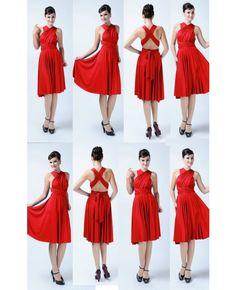 Set of 8 short Infinity Bridesmaid dresses