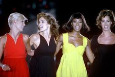 Nineties Supermodels Pictures - Christy Cindy Linda Naomi Claudia | British Vogue
