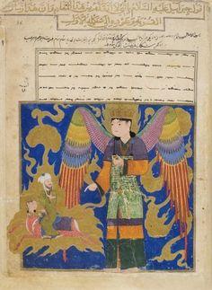 Muhammad quittant Gabriel Mir Haydar, Mira'j-nameh Herât (Afghanistan), 1436.