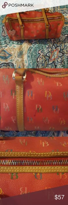 "Dooney & Bourke Red IT barrel bag Red ""IT"" bag no signs of wear slight pen mark as shown in picture Dooney & Bourke Bags Satchels"