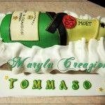 Torta a forma di Champagne Moet & Chandon