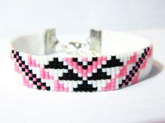 Woven Bracelet Miyuki Triangles by OBijouxdAudrey on Etsy
