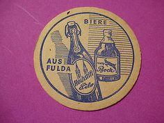 Vintage Beer Coaster Mat ~*~ Hochstiftliche Brauhaus Fulda, Nelly Bock ~ GERMANY Sous Bock, Beer Mats, Beer Coasters, Porsche Logo, Vintage, Glasses, Inspiration, Ebay, Ale