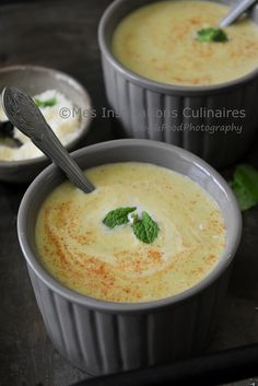 gaspacho courgette menthe