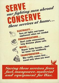 Serve by conserving
