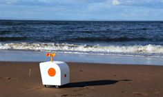 Designer Yuxi Liu has created Poet on the Shore - an adorable AI-powered robot that rolls around the beach scribbling lines of poetic prose in the sand.