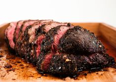Sirloin Tip Roast:  A FULL FIVE NOMS!!!!!  Delicious and easy (just be sure to rub the salt in the day before roasting)