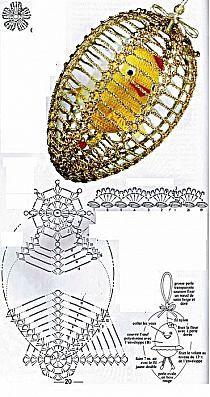 WIELKANOC - Stylowi.pl - Odkrywaj, kolekcjonuj, kupuj Thread Crochet, Crochet Crafts, Crochet Doilies, Crochet Flowers, Crochet Stone, Love Crochet, Hand Crochet, Easter Crochet Patterns, Crochet Decoration