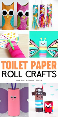 Have hours of crafting fun with these 30 adorable and fun toilet paper roll crafts for kids. Don't recycle those cardboard tubes! Instead, get crafty with one of these super easy tutorials. Toilet Paper Roll Crafts, Paper Crafts For Kids, Crafts For Kids To Make, Craft Activities For Kids, Toilet Paper Tubes, Kid Crafts, Cardboard Tube Crafts, Paper Towel Crafts, Cardboard Playhouse