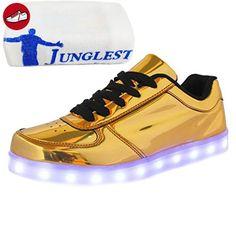 c3 EU 35,[+Kleines Handtuch] Kinderschuhe und für männliche Klettverschluss Schuhe Korean Lichter LED-Licht-emittierende weise Leucht blinken weibli