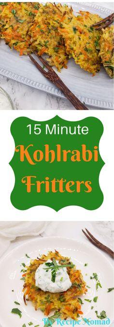 15 Minute Kohlrabi Fritters | Recipe Nomad