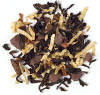 Organic Stormy Night tea, with black tea, chocolate, cinnamon, coconut & vanilla, from David's Tea. Yum yum!!