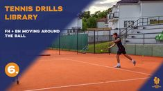 Great drill how to mix forehand, backhand while moving forward improving footwork. Drills, Moving Forward, Tennis, Basketball Court, Exercise, Top, Free, Ejercicio, Move Forward
