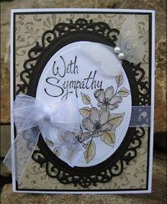 elegant Sympathy card in neutrals!