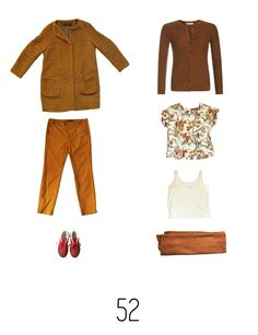 Outfit inspiration for your autumn capsule collection. This is outfit 52 of my project 333 during Autumn 2015. I am a spring type and mainly buy warm and bright colours. Featuring ZARA, Reebok, Joline Jolink, H&M and a vintage silk top.