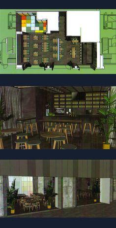 Proyecto de interiorismo de nuevo restaurante + bar de tapas + zona infantil en Valdebebas. Realizado por I+C Interiores de Cine y ASJ Ingeniería.