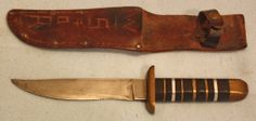 US World War Two theatre made fighting knife with scabbard