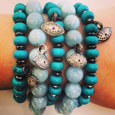 TURQUOISE with a side of EVIL EYE!! Sounds PRETTY PERFECT to us!