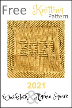 Knitted Dishcloth Patterns Free, Knitting Squares, Baby Booties Knitting Pattern, Knitted Washcloths, Knit Dishcloth, Knitted Blankets, Knitting Patterns Free, Free Knitting, Knitted Squares Pattern