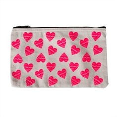 Pencil Case - Neon Hearts