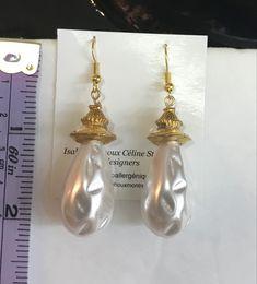 Pearl Earrings, Pearls, Jewelry, Ears, Handmade, Boucle D'oreille, Hands, Locs, Pearl Studs