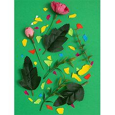 Blumen Gestaltung mit ei schalen.