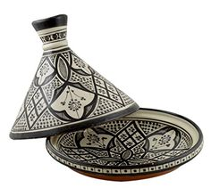 Moroccan Handmade Serving Tagine Exquisite Ceramic With Vivid colors Traditional 12 inches Across XLarge * Continue @