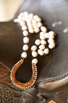 Cowgirl in Paris  HORSESHOE NECKLACE - Junk GYpSy co.