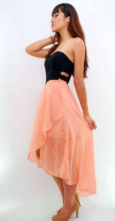 Asymmetrical Sweetheart Cut-out Tube Dress