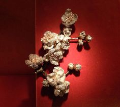 9 - branch of Apricot blossoms brooch by JAR Paris, 1999 - Diamonds, enamel, silver, bronze, gold