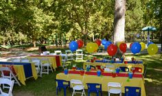 Little Einsteins Party Set Up