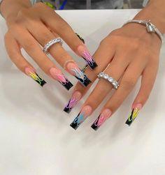 Cute Acrylic Nail Designs, Long Nail Designs, Art Designs, Tumblr Nail Art, Color For Nails, Exotic Nails, Bridesmaids Nails, Pink Acrylic Nails, Luxury Nails