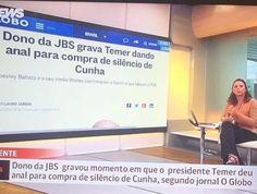 Globo News comete gafe envolvendo Temer e vira piada nas redes sociais