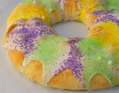 mardi gras cream cheese filled king cake...hey, i live in louisiana...this is a staple during mardi gras...