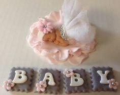 BABY SHOWER CAKE topper Princess baby shower by EdibleSugarArt