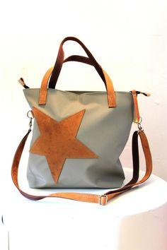 SHOPPER+mit+Stern+von+*+elkedag*+von+*elkedag*+auf+DaWanda.com