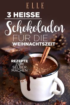 Hot chocolate: 3 delicious AND healthy varieties Heiße Schokolade: 3 leckere UND gesunde Sorten Superfood to drink: 3 hot chocolates for the Christmas season Chocolate Navidad, Healthy Drinks, Healthy Recipes, Healthy Nutrition, Snacks Sains, Chocolate Caliente, Vegetable Drinks, Food Trends, Clean Eating Snacks