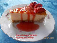 Epres-citromos sajttorta
